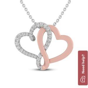 Diamond heart necklace // OBO
